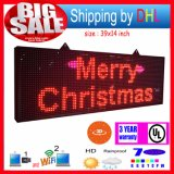 P13 WiFi Wireless Control LED Rolling Display RGB Outdoor 7-Color 3D Effects LED Signs 39X14inch Programmable Display Panel