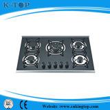 5burner Glass Panel Gas Cooker Top