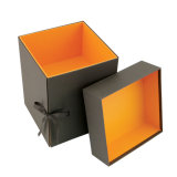 Lid and Bottom Paper Box with a Tie