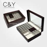 Chocolate Brown Custom PU Leather Jewelry Storage Box