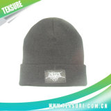 Customized Acrylic Beanie Knitted Hat/Caps with Patchwork Logo (062)