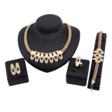 Hot Fashion Necklace Earrings Bracelets Rings Alloy Jewelry Set