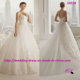 2015 Princess Flowers Lace Wedding Dress Gowns with Sweetheart
