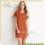 Wholesaler Casual Loose Pattern Hot Women Cotton T-Shirt Dress