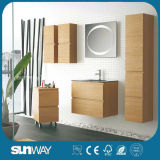 2015 New Wood Veneer Wall-Mounted Lowes Bathroom Vanity Cabinets