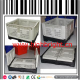 Large Collapsible Plastic Pallet Box Used with / Without Lid & Wheels
