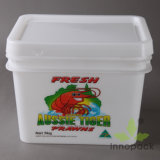 10L Rectangular Seafood Plastic Pails with Lids