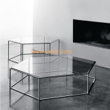 (SD-5004) Modern Hotel Restaurant Living Room Furniture Glass Coffee Table