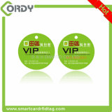 Printed Custom Size Shape square/round RFID PVC cards with hole