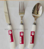 Supermarket Logo Branded Kitchenware Spoon Fork, Knife Set