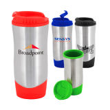 Promotional Mug Made of Stainless Steel Rind and Virgin Plastic Inner
