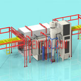Fast Color Change Automatic Powder Coating Line for Aluminum Profile
