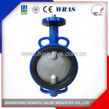 Midline Butterfly Valve Wafer Type with Double Stem for Industrial Use