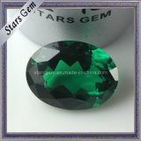 AA Emerald Green Oval Shape CZ Loose Beads for Jewelry