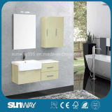 2016 New Painting MDF Bathroom Cabinet with Sink Sw-1329