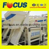 Top Quality 1000L Concrete Mixer, Js1000 Twin Shaft Concrete Mixer Pneumatic Discharging