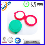 Round Silicone Bags with Mirror