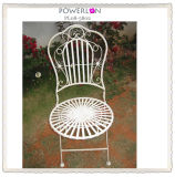 Vintage White Metal Garden Chair (PL08-5802)