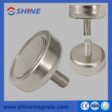 Nickle Plated Pot Magnet RPM-C48 with Threaded Rod