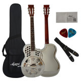 China Aiersi Parlour Size Brass Body Resonator Guitar with Cutway