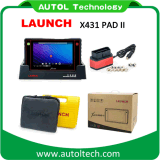 100% Orignal Super Auto Scanner Launch X431 Pad II with Multi-Language Update by WiFi with One Click Upgrade X-431 Pad 2 Diganostic Tool