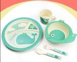 BPA Free Natural Bamboo Fiber Kids Dinnerware Set