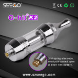 2017 New Dual/Single Coil G-Hit K2 E Cigarette Rocket Atomizer with Glass Tank