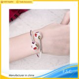 Fashion Jewelry China Copper with Silver Plated Multicolor CZ Bracelet