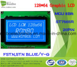 128X64 MCU Graphic LCD Module, St7565r, 20pin, for POS, Doorbell, Medical, Cars