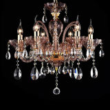 European and Purple Crystal Chandelier Light