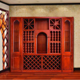 Home Furniture Solid Wood Wine Cabinet Wooden Wine Rack (GSP9-042)