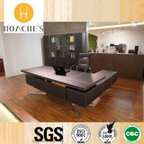 Contemporary Wood L-Shape Corner Boss Table for Workstation (YA02)