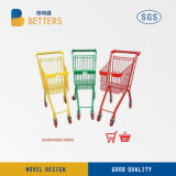 Mall Supermarket Trolley Children Metal Shopping Cart with Flag or Armrest