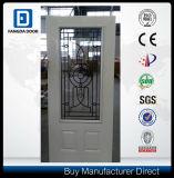 22*48 Wrought Iron Tempered Glass Metal Door