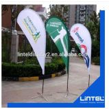 Advertising Aluminum Flagpole Trade Show Flying Feather Flag Display