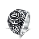 Big Size Exaggerate Black 316L Stainless Steel Ring