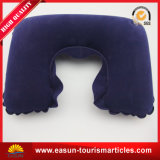 Square Shape Promotion Flocked Waterproof Inflatable Neck Pillow