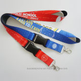 Custom Promotion Polyester Sublimation Lanyards with Detachable Buckle