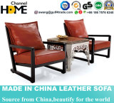Elegant Home Furniture Leather Wooden Hotel Chair (HC016)
