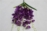 Hot Selling Purple Plastic Artificial Flowers for Wedding Decoration