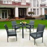 Cheap Outdoor Garden PE Outdoor Rattan Garden Coffee Shop Tables and Chairs (Z346)