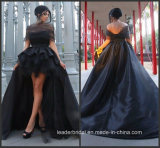 Black Party Prom Gown off Shoulder Hi-Low Mother Daughter Evening Dress P16080