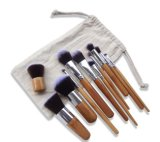 11PCS Cosmetic Makeup Brush with Cloth Bag Fit Travel