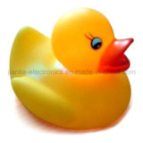 Custom Logo Rubber Flashing LED Yellow Duck (3561)