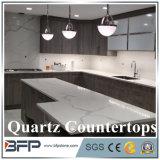 New White Quartz Countertop with Grey Veins