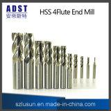 4flute High Quality Parallel Shank HSS Milling Cutter