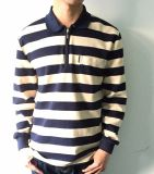 High Quality Factory Custome Men Stripe Shirt with Polo Collar