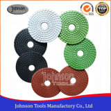75-125mm Wet Type Spiral Diamond Polishing Pads for Polishing Granite and Marble