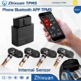 Internal Sensor Wireless OBD Bluetooth Tire Pressure Monitoring System with APP Display Universal for All Family Cars