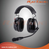 Tactical Heavy-Duty Headset with Over-The Head Headband for Two Way Radios